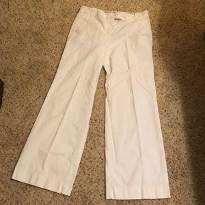 Loft sz 8 Marisa white pants